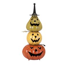 The Viggo stacked pumpkins make a festive holiday greeting when placed in a foyer or home living area.