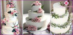 tort weselny z kwiatami - opcji na dekoracje i ozdoby ze zdjęciami