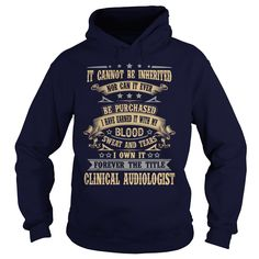 CLINICAL AUDIOLOGIST T-Shirts, Hoodies. BUY IT NOW ==► https://www.sunfrog.com/LifeStyle/CLINICAL-AUDIOLOGIST-Navy-Blue-Hoodie.html?id=41382
