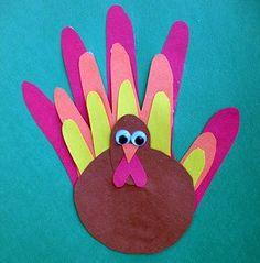 Esta manualidad es perfecta para celebrar el Dia de Accion de Gracias con los niños: http://www.manualidadesinfantiles.org/pavo-hecho-con-nuestras-manos-para-accion-de-gracias