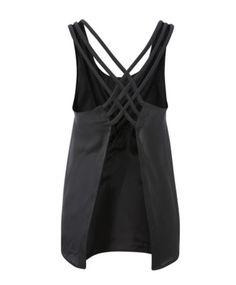 shirt black top backless sexy spaghetti strap