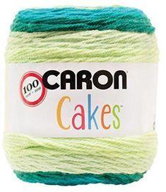 Caron Cakes Self Striping Yarn 383 yd 200 g (Lemon Lime) Caron Cakes Crochet, Crochet Cake, Crochet Gifts, Baby Blanket Crochet, Easy Crochet, Free Crochet, Knit Crochet, Crochet Shawl, Crochet Round