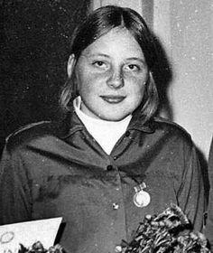 Angela Merkel at 16 years olf