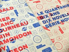 Stamps and typography coming together in these book covers by Pointbarre from Canada.  http://llgd.net/content/books-by-pointbarre/