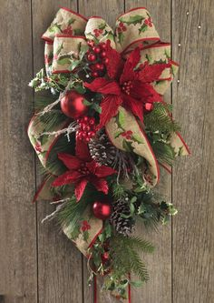 Fresh Green Mantle And Swag Decorating Ideas More Christmas Swags Christmas Door Decorations Xmas