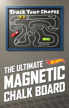 Keep your kids on top of their chores with Hot Wheels, magnets and a chalkboard. Find out how here.