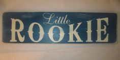 Little Rookie Sports Baseball Boys Nursery by CottageSignShoppe, via Etsy.