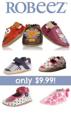 HOT! Robeez Crib Shoes $9.99!