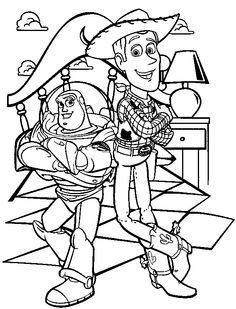 woody bullseye coloring pages - photo#16