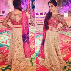 RJ Sophie looking super pretty on her friend's mehndi #pakistaniweddings #bridal #couture #outfit