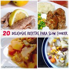 La olla de cocción lenta es una maravilla en la cocina, hoy veremos 20 deliciosas recetas para slow cooker: estofados, sopas y postres deliciosos !