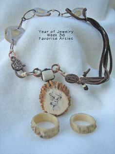 Year of jewelry, week favorite artist My favorite artist is Mother Nature. This focal necklace, flat pearls and rings […] Ammo Jewelry, Bone Jewelry, Wooden Jewelry, Copper Jewelry, Resin Jewelry, Jewelry Crafts, Handmade Jewelry, Deer Antler Jewelry, Deer Antler Crafts