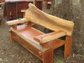 Hardwood Furniture - Slab Tables and Chairs Outdoor Chairs, Outdoor Furniture, Outdoor Decor, Slab Table, Hardwood Furniture, Picnic Table, Table And Chairs, Bar, Home Decor