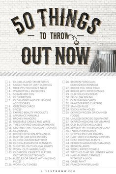 50 Things to Throw Out Now (and How to Dispose of Them)