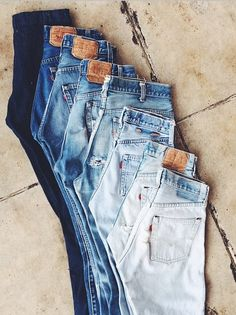 All the colors of the (vintage denim) rainbow. via @generalstores