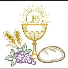 First Communion Banner, Première Communion, First Holy Communion, Custom Embroidery, Machine Embroidery Designs, Altar Cloth, Quilting Board, Cross Art, Christian Symbols