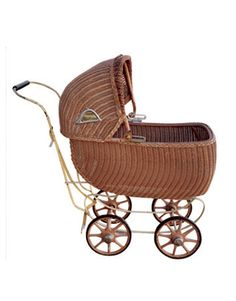 Collectibles general antiques wicker baby carriage for Baby and kids first furniture