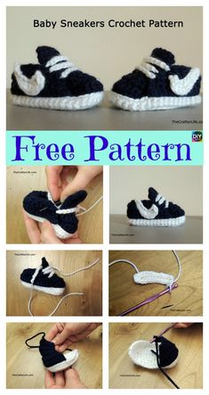 Crochet Baby Nike Sneakers - Free Pattern by Tresa Benzo Coburn 20 New Crochet Baby Booties – Finest 10 Ideas Baby booties are one of the most popular handmade baby shower gifts that everyone will love. We are here with the most adorable 20 New Crochet Crochet Baby Boots, Booties Crochet, Crochet Baby Clothes, Crochet For Boys, Crochet Shoes, Crochet Slippers, Diy Crochet, Knitted Baby, Baby Booties Free Pattern