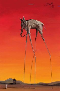 Elephant In The Style Of Salvador Dali, 1948 – 2015 - The John Myatt Collection - Art - Castle Galleries Salvador Dali Gemälde, Salvador Dali Paintings, Magritte, Cool Paintings, Surreal Art, Famous Artists, Oeuvre D'art, Art History, Les Oeuvres