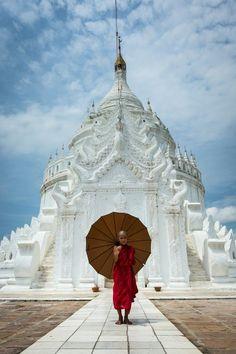 Temple Monk, Mandalay, Burma.
