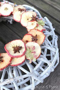 seidenfein 's Dekoblog: Apfelkranz & Apfelpunsch * DIY * apple wreath & apple punch
