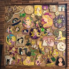 Happy #TangledTuesday It's been a while, so I thought I would share an updated photo of my Tangled pin collection! All shops tagged; some choose to remain anonymous. I've taken it slow lately on collecting, yet somehow it keeps getting bigger & bigger!What kinda things do you collect?! #tangledpins #tangledfantasypins