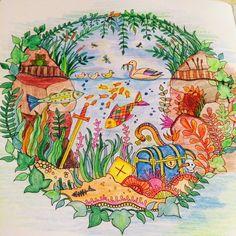 Еще одна раскрашенная картинка ;) #карандашики #джоаннабэсфорд #johannabasford #детствозаиграло #зачарованныйлес #раскраска #раскраскадлявзрослых #когданечегоделать