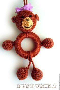 Купить Слингокулоны - комбинированный, слингобусы, слингобусы с игрушкой, слингокулон, вязаные бусы, игрушки крючком