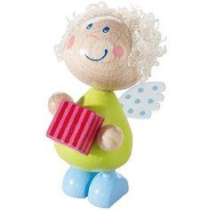 NEW ARRIVALS Angel Messenger Lola This little wooden Christmas angel decoration … - Modern Christmas Toys, Christmas 2014, Christmas Angels, Angled Hair, Christmas Angel Decorations, Your Favorite, Hello Kitty, Sweet, Fun
