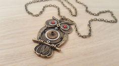Steampunk Owl Necklace,  unique watch parts jewellery, alternative, goth, cyberpunk, industrial gift, handmade in Scotland by LikeNewCrafts on Etsy
