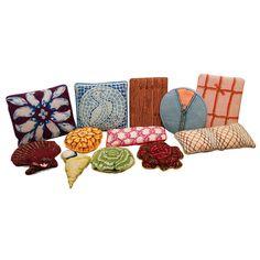 A collection of Lou Gartner pillows.
