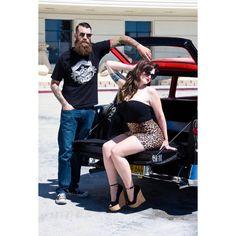 Gina Barbara Photography with MayheMeghan & Steve Benson. Fashion glamour Chevy '56 classic cars leopard pin up retro tattoos alternative.