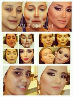 I love this picture because I like all the different styles of contouring it showcases.