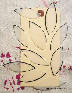 Balzer Designs: Art Journal Every Day: Tutorial: Cut Your Own Stencils
