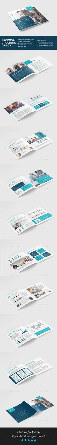 Square Proposal Brochure Template InDesign INDD - 20 Pages - Download: https://graphicriver.net/item/square-proposal-brochure/21736193?ref=ksioks