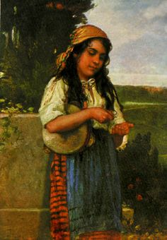 Paintings with Romani Gypsy women and girls with tambourines Gypsy Life, Gypsy Soul, Gypsy People, Frame Drum, Gypsy Women, Vampire Stories, Gypsy Caravan, Virtual Museum, Tambourine