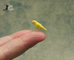Miniature Singing Canary sculpture... by Pajutee.deviantart.com on @DeviantArt