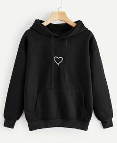 Read more The post Shop Heart Print Drawstring Kangaroo Pocket Hoodie online. ROMWE offers Heart Pr… appeared first on How To Be Trendy. Stylish Hoodies, Unique Hoodies, Cool Hoodies, Hoodies For Girls, Womans Hoodies, Girls Fashion Clothes, Teen Fashion Outfits, Punk Fashion, Lolita Fashion