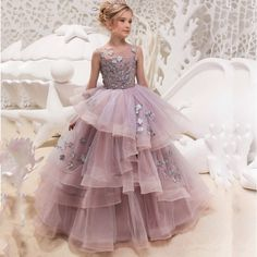 Big SALE New Hot Girls Tulle O-neck Sleeveless Flowers Ball Gowns Floor Length Elegant Girls Princess Dress Birthday Party Wedding Gowns Cheap Flower Girl Dresses, Girls Maxi Dresses, Girls Dresses Online, Wedding Flower Girl Dresses, Lace Flower Girls, Lace Evening Dresses, Girls Party Dress, Ball Gown Dresses, Birthday Dresses