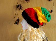 Unisex Rasta Hat Dreadlocks Hat Bob Marley Hat by recyclingroom