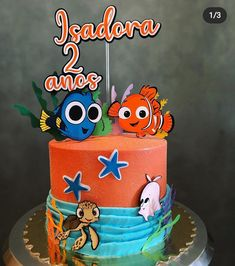 Fruit Cake Watermelon, Bolo Minnie, Cake Toppers, Birthday Cake, Desserts, Kids, Birthday Cake For Baby, Conch Fritters, Mermaid Birthday Cakes