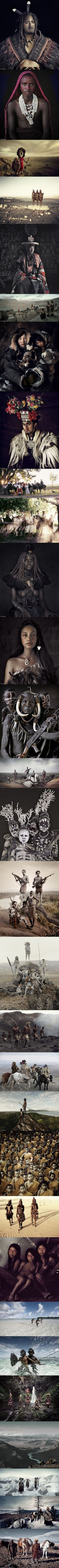 Dying life of the tribe. Photographer travelled the world for 3 years, visiting 35 tribes in all 5 continents.
