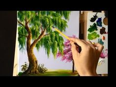 How to Paint a Tree with Acrylic Lesson 12 - YouTube