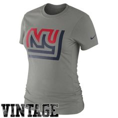 Nike New York Giants Women s Retro Basic Logo T-Shirt - Ash Nfl Seattle 040921418