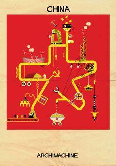 ARCHIMACHINE - china by federico babina