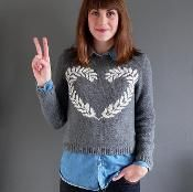 Peace and Love Sweater  - via @Craftsy