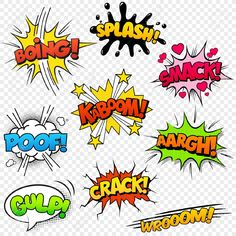 26079058-collection-of-nine-multicolored-comic-sound-effects.jpg (1300×1300)