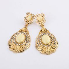 8115e907bc50 New Arrival KISS ME Fashion Jewelry Brincos Ouro Alloy Elegant Gold Color  Earrings Thanksgiving Gifts