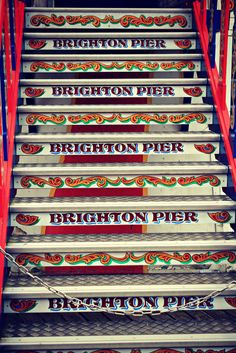 Brighton Pier, Sussex, England Those who live there know it as the Palace Pier. But that's another story. Brighton Rock, Brighton England, Brighton And Hove, British Seaside, British Isles, Great British, East Sussex, Beautiful Buildings, Britain