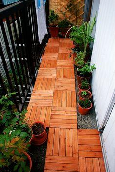 veranda, small space